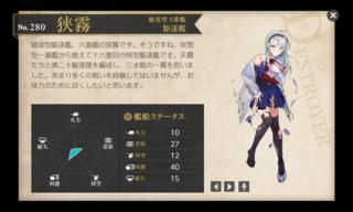 綾波型 6番艦 駆逐艦 狭霧 バレンタイン 中破.png