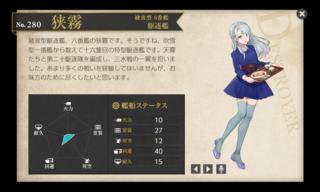 綾波型 6番艦 駆逐艦 狭霧 桃の節句.png