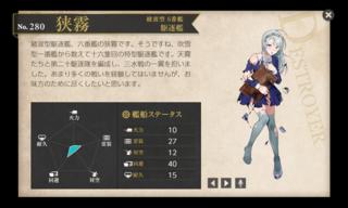 綾波型 6番艦 駆逐艦 狭霧 桃の節句 中破.png