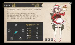 綾波型 9番艦 駆逐艦 漣 クリスマス.png