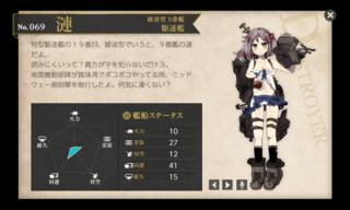 綾波型 9番艦 駆逐艦 漣 中破.png