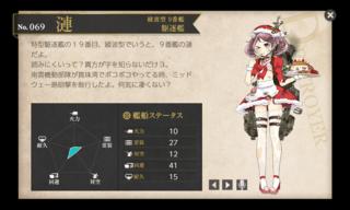 綾波型 9番艦 駆逐艦 漣改 クリスマス 中破.png